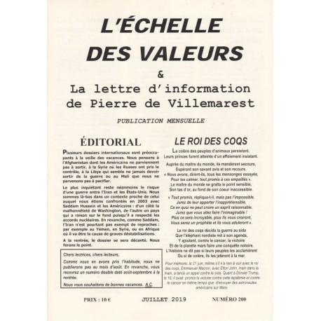 L'échelle des valeurs n°200 - juillet 2019