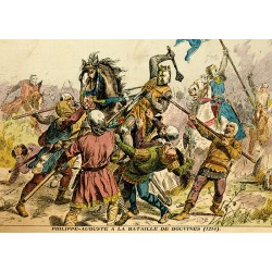 Carte postale « Philippe Auguste à Bouvines »