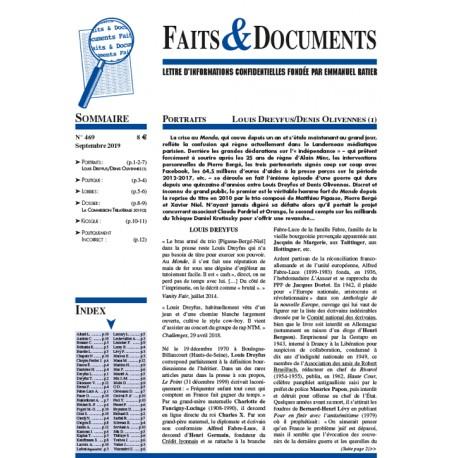 Faits & documents n°469