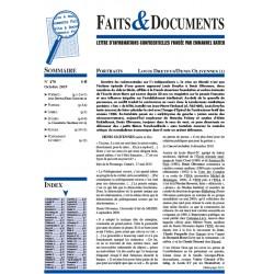 Faits & documents n°470 - octobre 2019