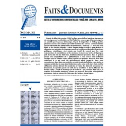 Faits & documents n°473