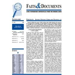 Faits & documents n°474