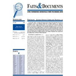 Faits & documents n°475