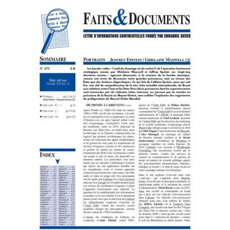 Faits & documents n°475