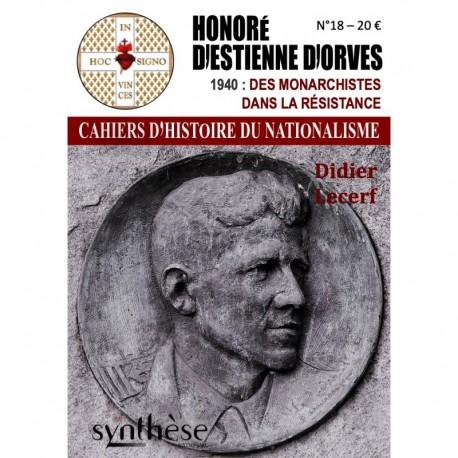 Honoré d'Estienne d'Orves - Cahiers d'Histoire du Nationalisme n°18