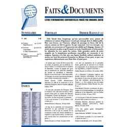 Faits & documents n°482