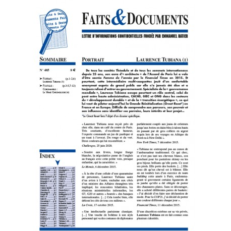 Faits & documents n°485