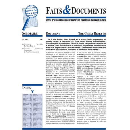 Faits & documents n°487