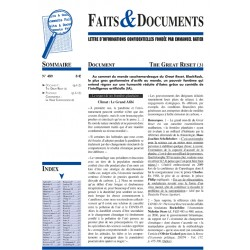 Faits & documents n°489