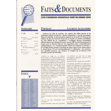 Faits & documents n° 491