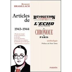 Articles de 1943-1944 - Robert Brasillach