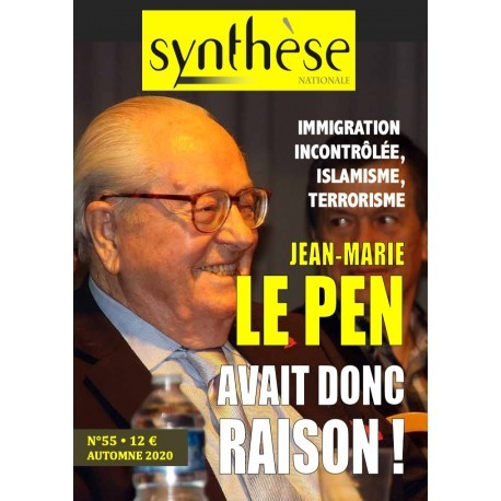 Synthèse nationale n°55 - Automne 2020