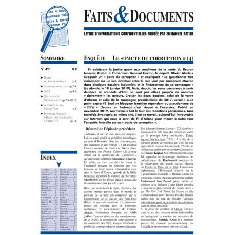 Faits & Documents n°495