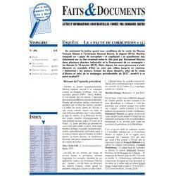 Faits & documents n°496