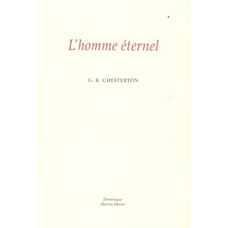 L'homme éternel - G.K. Chesterton